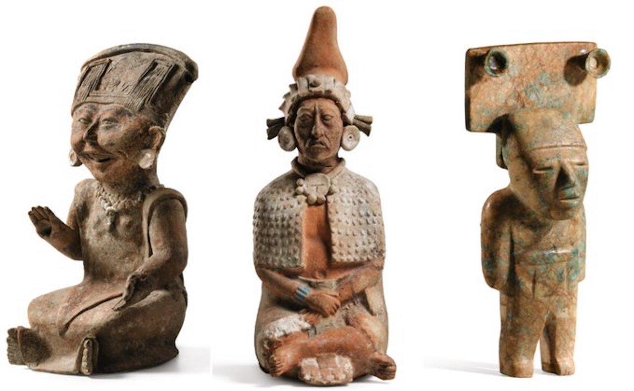 74 esculturas y máscaras aztecas se subastarán en París