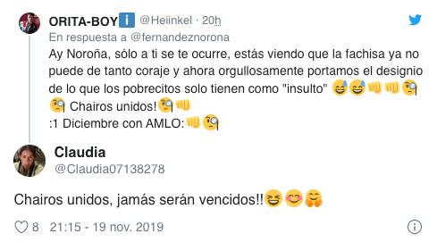 20/11/2019, Noroña, Propone, Día, Chairo