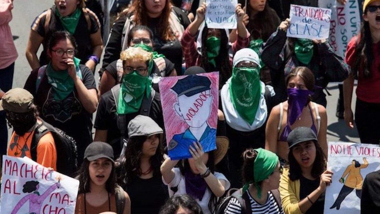 marcha feminista por el 25 de noviembre 2019