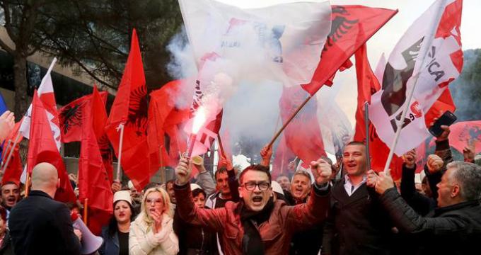 Manifestaciones en Albania en 2019