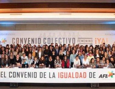 Primera huelga en el fútbol femenino español