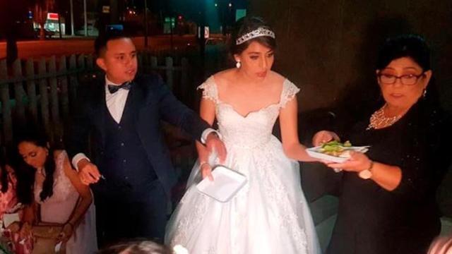 En Tamaulipas novios repartieron su banquete de bodas en un hospital Infantil