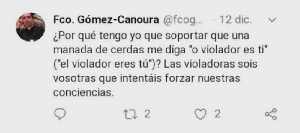 Sacerdote Llama En Twitter Manada De Cerdas a Colectivos Feministas En España