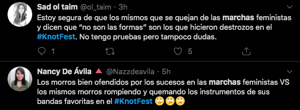 Quejas Twitter Knotfest 2019 Mexico