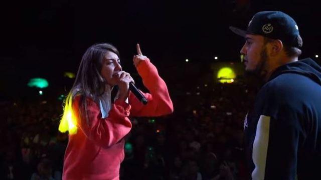 Sara Soccas rapea contra el machismo durante la Batalla de Gallos en CDMX
