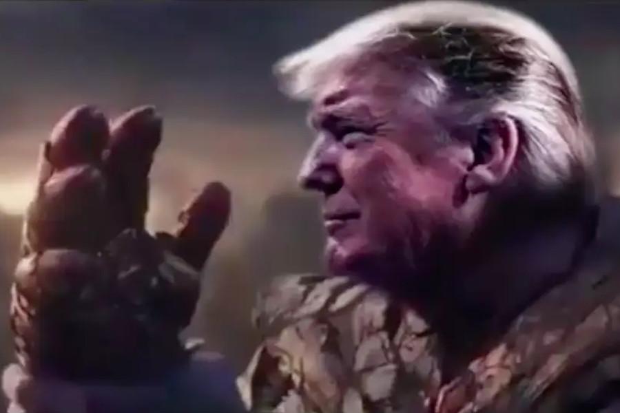 Trump se convierte en Thanos en video electoral.