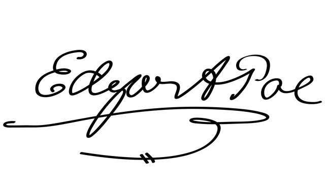 Edgar Allan Poe Firma