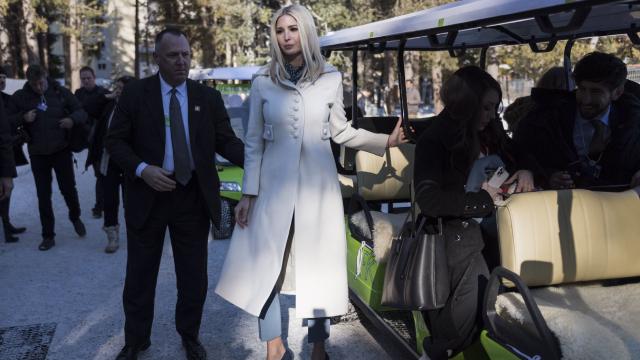 Ivanka Trump llegando a Davos