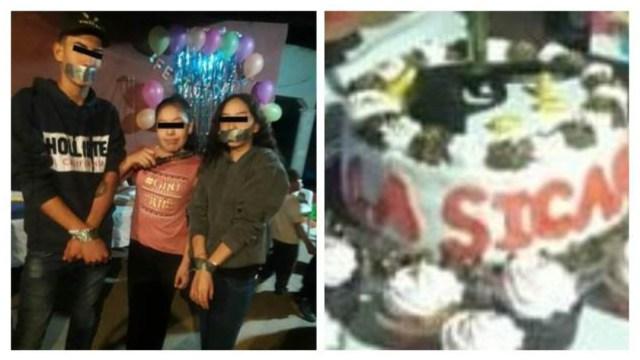 Niña celebra cumpleaños con fiesta temática de narcotráfico.