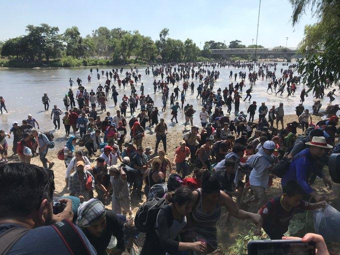 INM informó que una Caravana Migrante intentó ingresar al país sin éxito