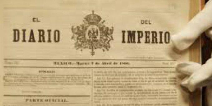 """Robaron el """"Diario del Imperio"""" del archivo histórico de la CDMX"""