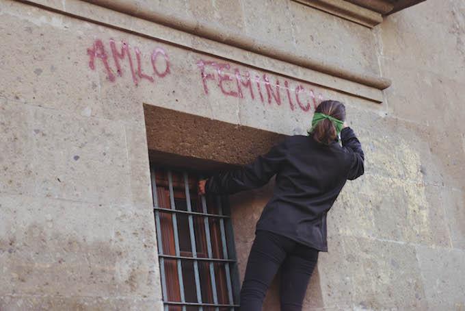 Colectivas feministas protestaron contra los feminicidios (Foto: Plumas Atómicas/ Mónica Vázquez)