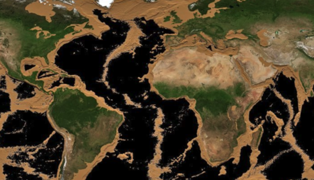 NASA revela cómo se vería la Tierra sin los océanos se secan.