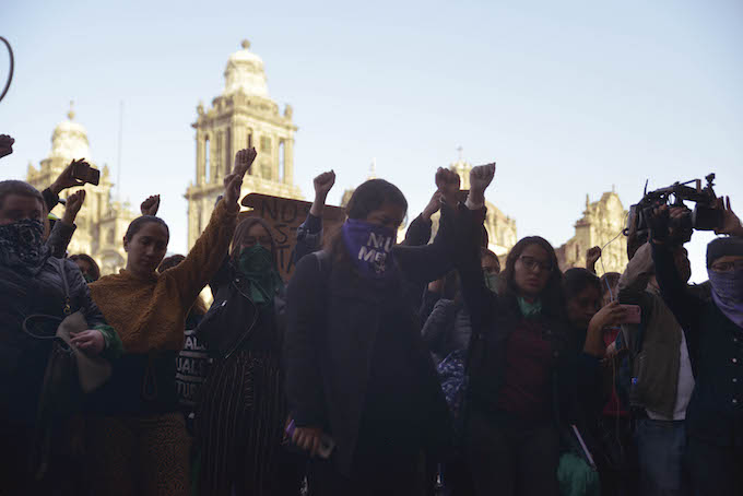 "Protestas por el feminicidio de Fátima ""N"" (Foto: Plumas Atómicas/ Mónica Vázquez)"