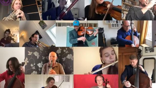 Coronavirus, Himno Alegría, Beethoven, Orquesta
