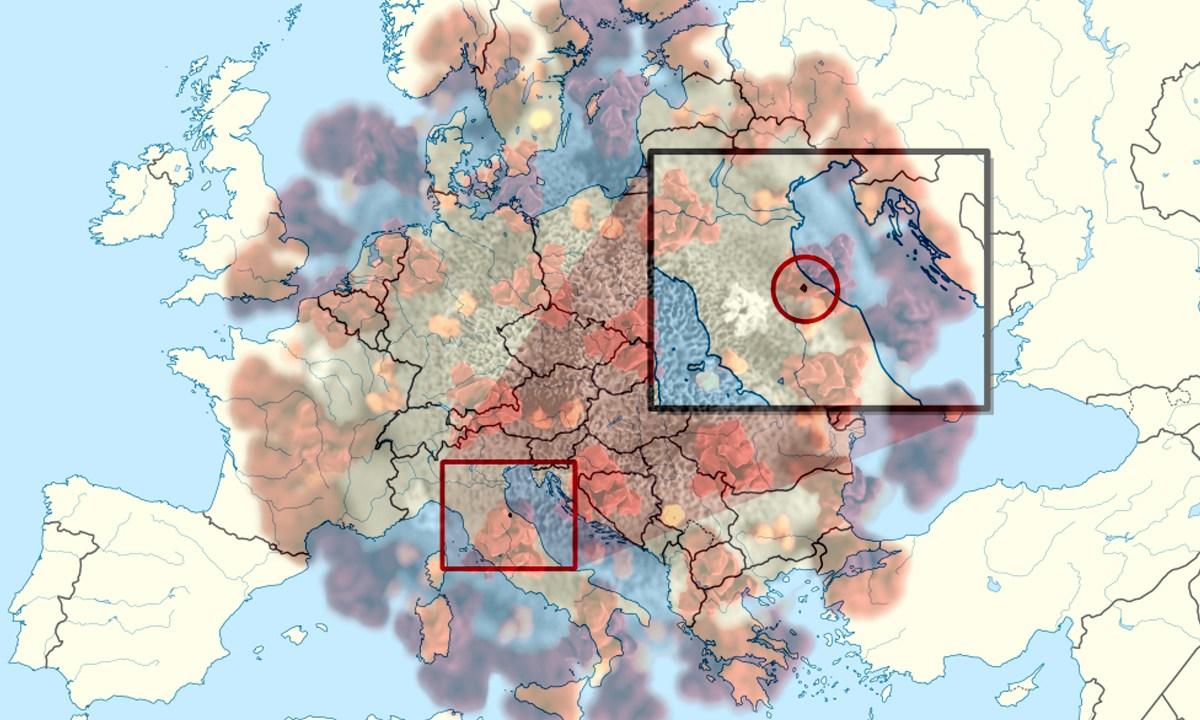 Coronavirus, San Marino, Italia, España