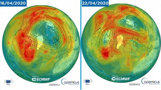 Capa Ozono, Agujero, Ártico, Calor
