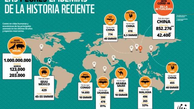 Destrucción de la naturaleza aumenta el riesgo de pandemias: WWF