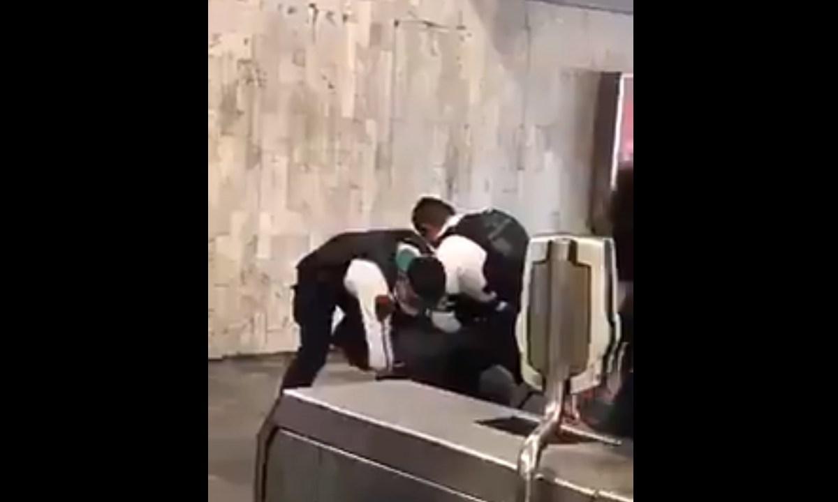 Cubrebocas, Metro, CDMX, Arresto