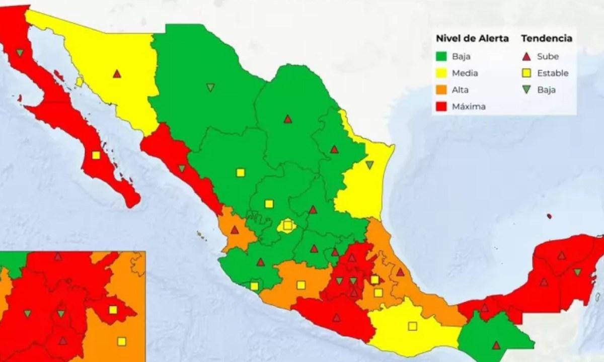 Semaforo Covid, Mapa, México, Nueva Normalidad