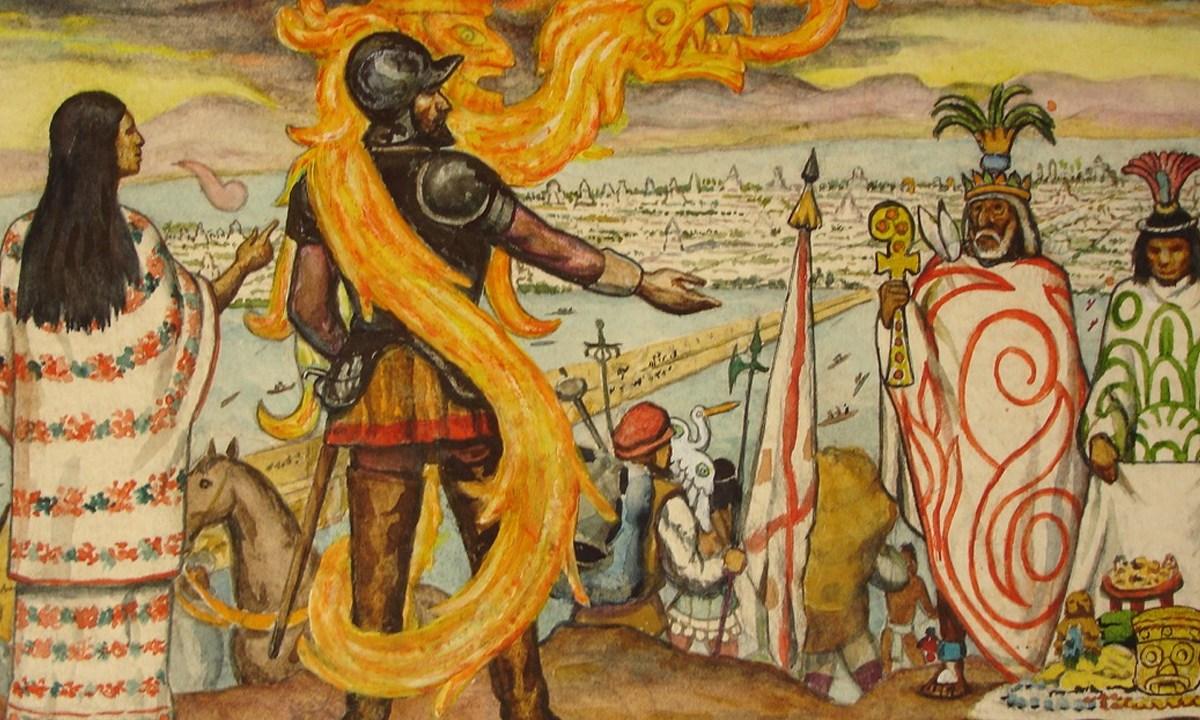Cortes y La Malinche, El 30 de junio de 1520 se dio la mayor derrota de Hernán Cortes a manos de los aztecas, la llamada Noche Triste
