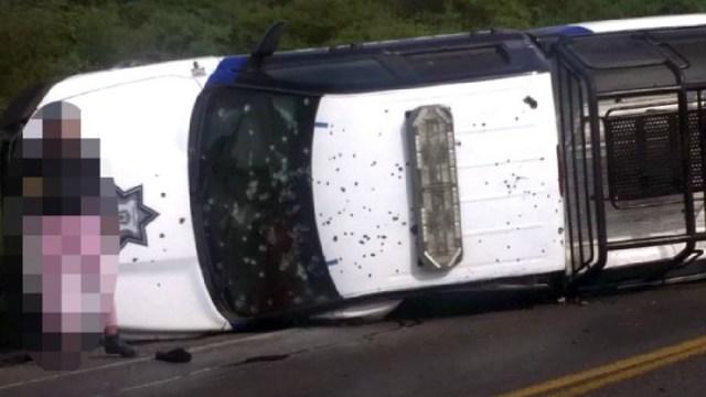 Asesinaron a cinco policías de Guanajuato, Elementos de las Fuerzas de Seguridad del Estado murieron en la carretera Apaseo
