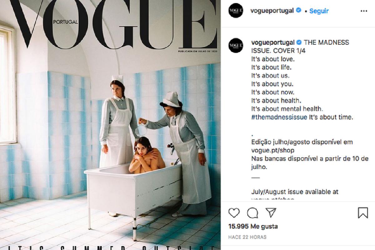 Vogue retiró una portada en la que distorsionó a las enfermedades mentales