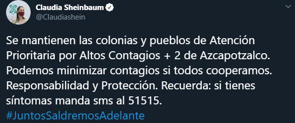 Les decimos cuáles son las 36 colonias que están en semáforo rojo en las diversas alcaldías de la CDMX, Captura de Pantalla