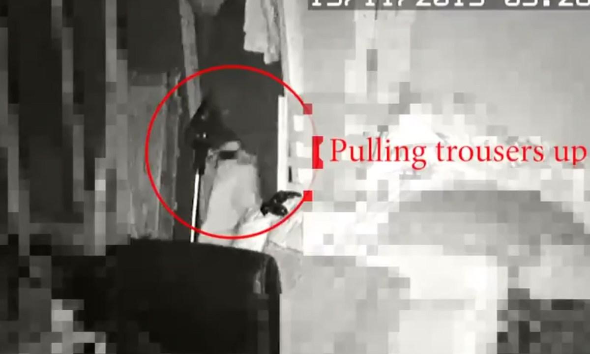 Violador fue captado tras intentar agredir sexualmente a una niña de 13 años. Fue captado en video, Captura De Pantalla