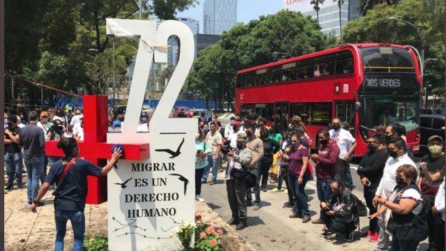 Colocan anti monumento por masacre de San Fernando