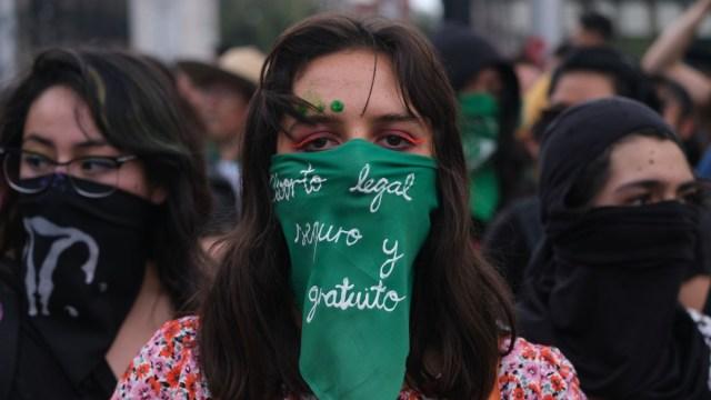 Pañuelos verdes Monumento a la Revolución despenalización del aborto