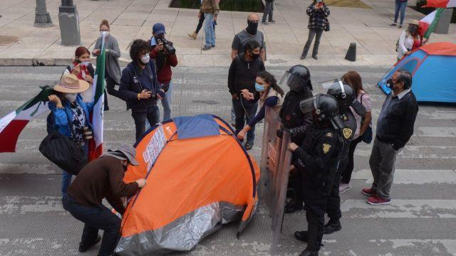 Sheinbaum: se impidió paso de FRENAA al Zócalo para evitar choque entre manifestantes y por COVID-19