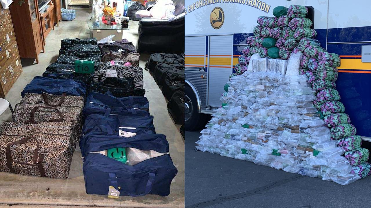 La Administración para el Control de Drogas (DEA) hizo una incautación sin precedentes de mentafetaminas del Cártel de Sinaloa