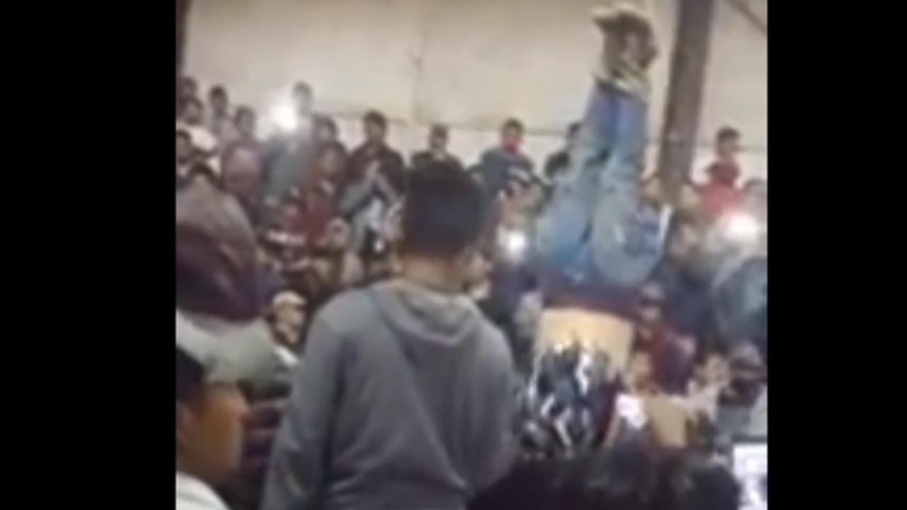 Video muestra a habitantes de la comunidad de Cepácuaro, Michoacán, intentando linchar a un ladrón; lo entregaron a la Guardia Nacional