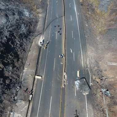 Explosión en autopista