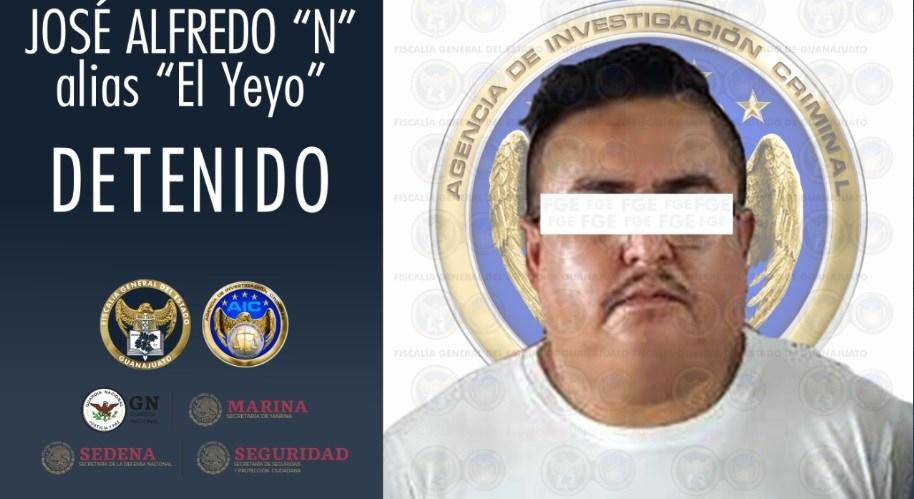 El 'Yeyo', exintegrante del Cártel Santa Rosa de Lima fue capturado gracias a la acción conjunta de las Fiscalías de Guanajuato y Veracruz