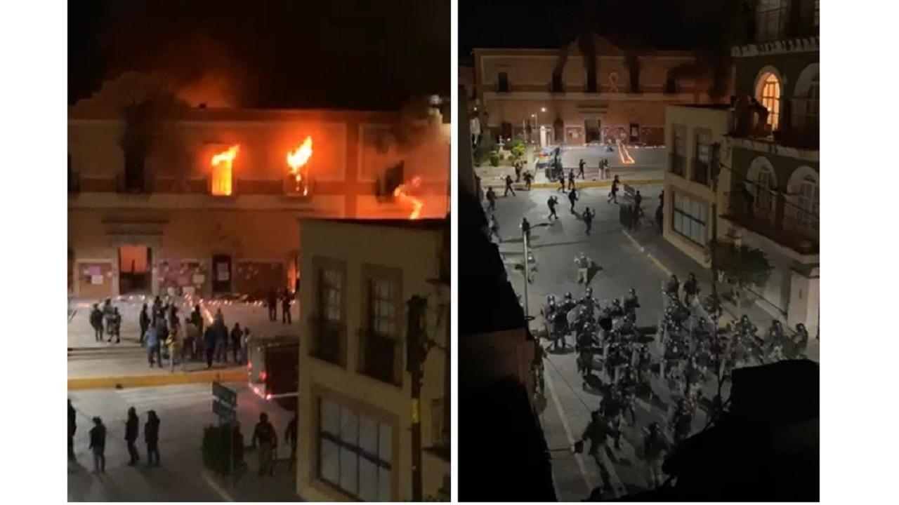 incendian presidencia municipal Fresnillo asesinato Sofía Alejandra