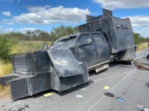 vehículo monstruo enfrentamiento Camargo Tamaulipas
