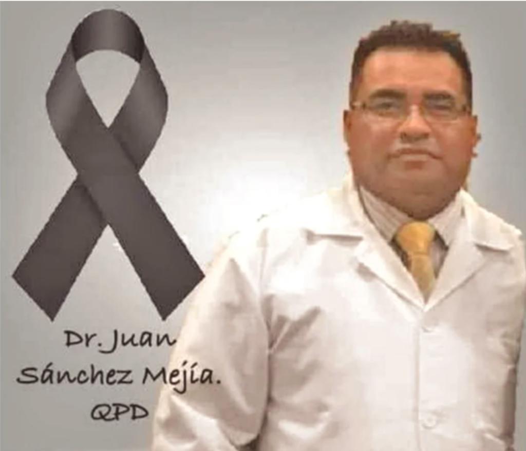 El médico Juan Sánchez Mejía murió por COVID-19