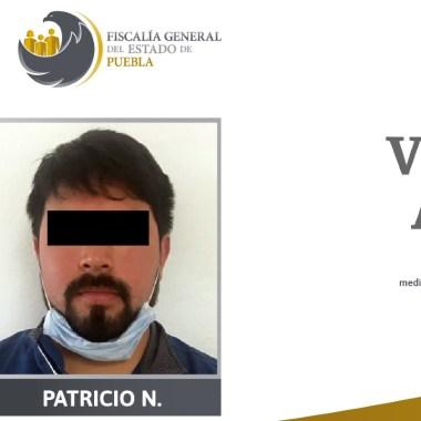 """La Fiscalía General de Puebla informó que vinculó a proceso a Patricio """"N"""" de 42 años de edad, por el delito de violación a un menor de edad"""