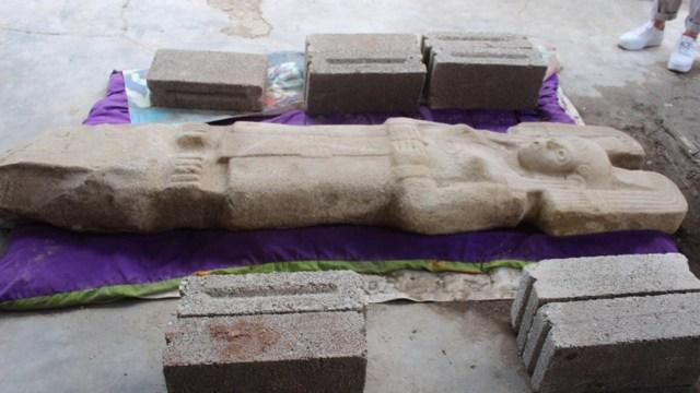 Encuentran primera escultura prehispánica femenina Veracruz