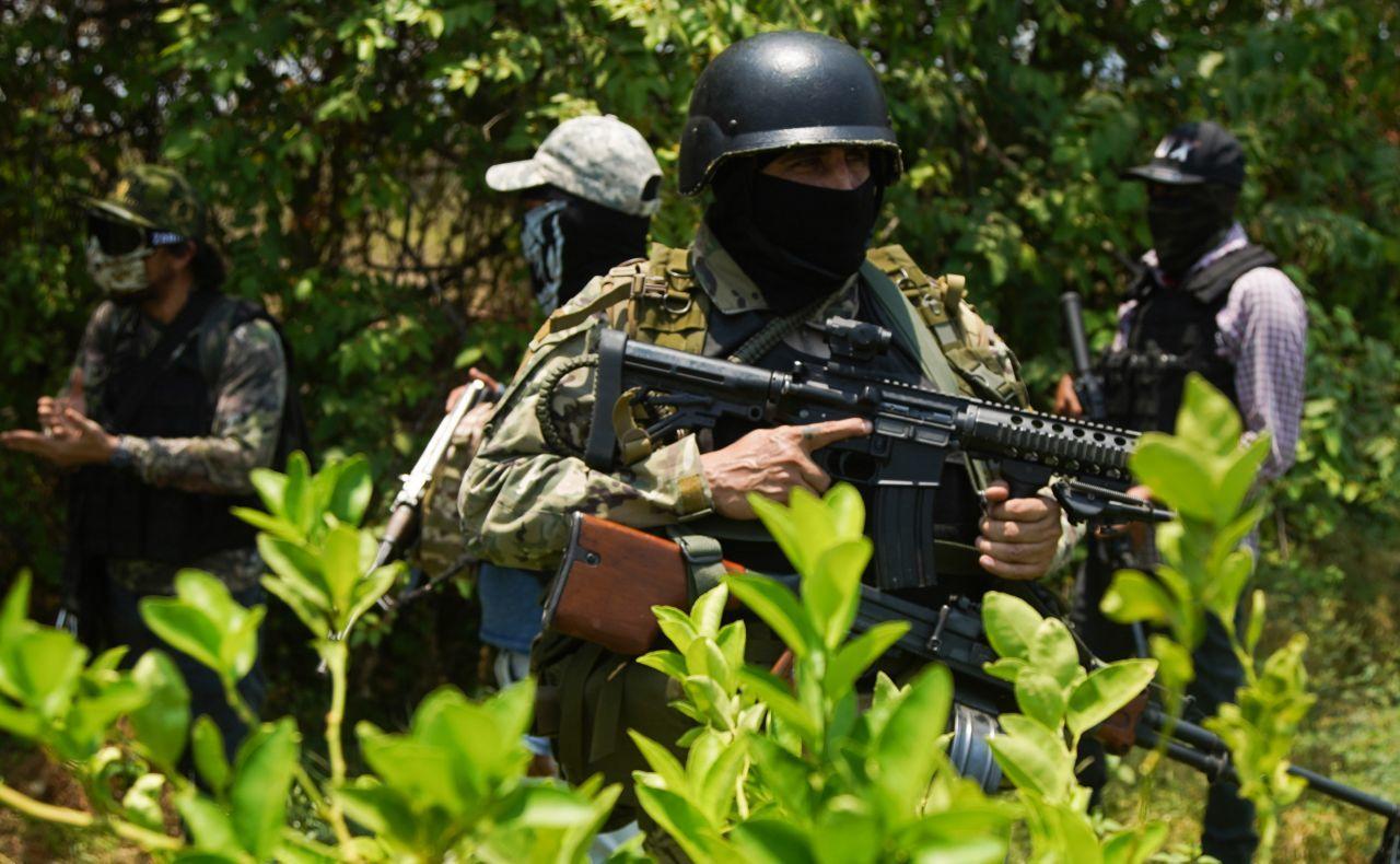 Autodefensas que enfrentan al CJNG en Michoacán