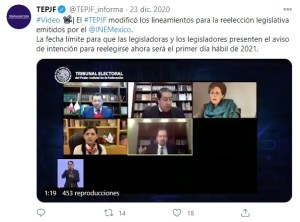 TEPJF diputados reelección 2021
