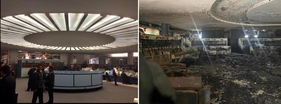 antes y después centro del control metro