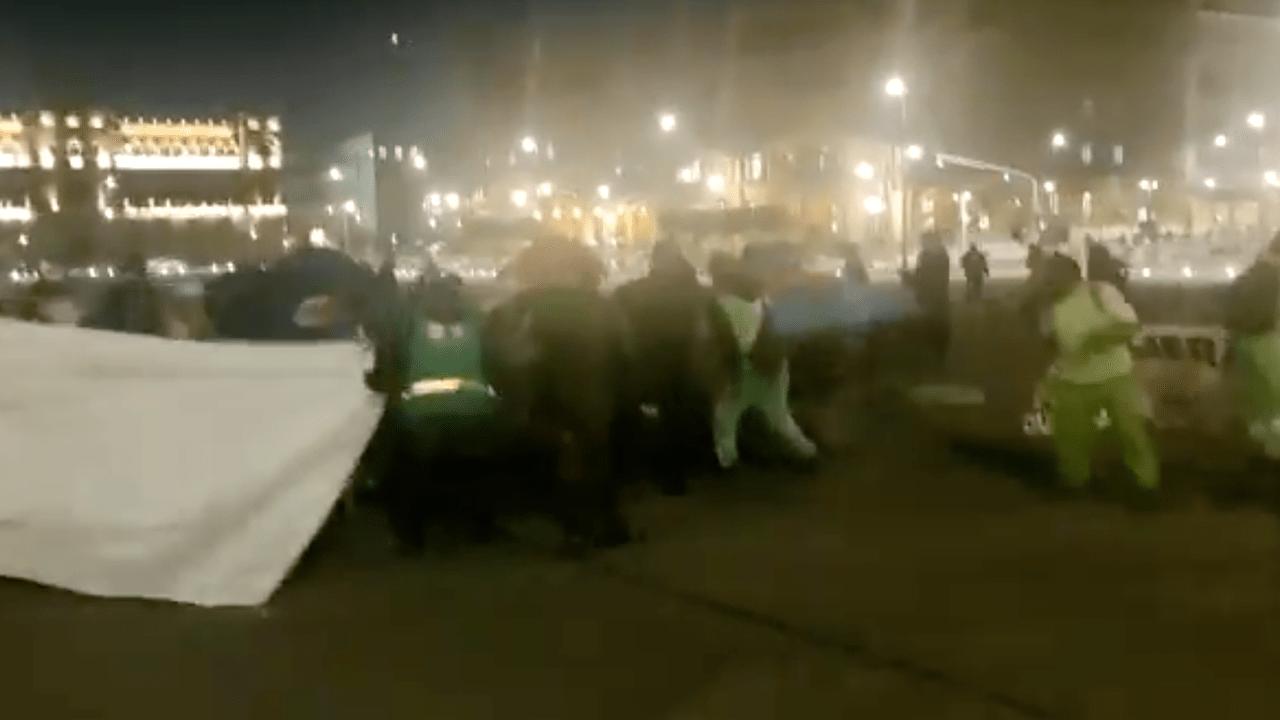 CDMX: Retiran campamento de FRENAA; las tiendas de campaña estaban vacías