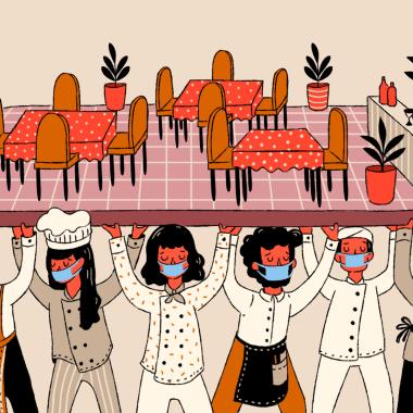 Batallan restaurantes de Narvarte por sobrevivir a 10 meses de pandemia por COVID-19