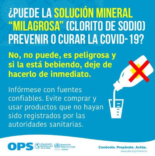 Te explicamos las razones por las que deben de evitar consumir dióxido de cloro para prevenir los contagios de COVID-19