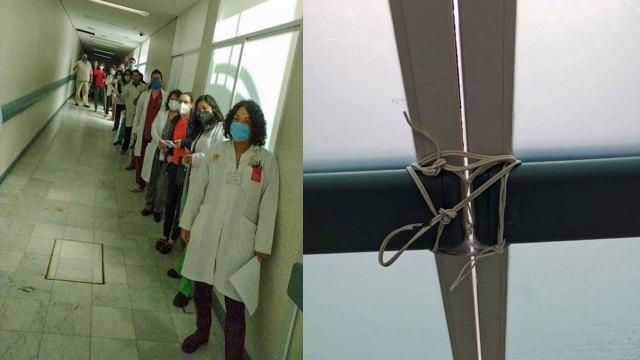 Doctores denuncian que fueron encerrados en hospital del Estado de México para frenar quejas sobre vacuna contra COVID-19