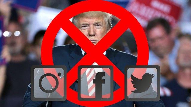 Las cuentas de Facebook e Instagram de Donald Trump fueron suspendidas indefinidamente tras el bloqueo de Twitter