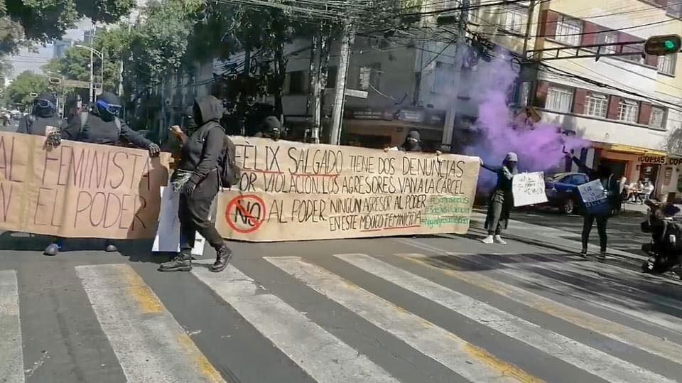La manifestación en contra de la postulación de Salgado Macedonio como candidato a la gubernatura de Guerrero ocurrió en la CDMX